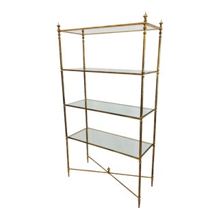 Gold Leaf Etagere Shelf