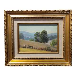 Paul Grimm California Hilly Landscape Oil Painting