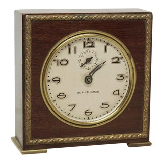 Small Wooden Seth Thomas Table Top Clock