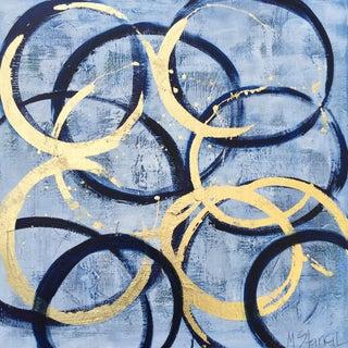 Large Blue & Gold Circles