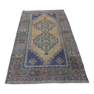 "Vintage Turkish Oushak Rug - 3'5"" X 6'1"""
