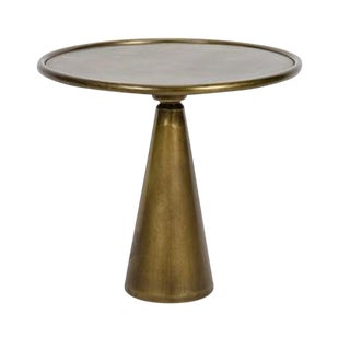 Antique Brass Side Table