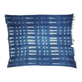 African Batik Blue Throw