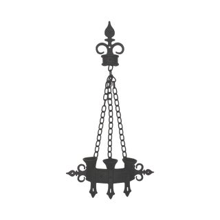 Black Hammered Metal Triple Candle Wall Sconce