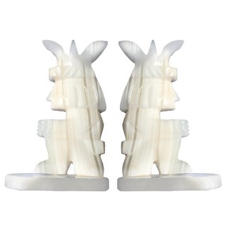 Onyx Figure Bookends - A Pair