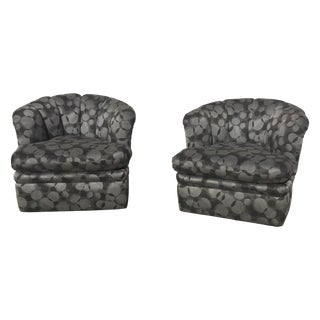 Tufted Swivel Chairs - A Pair