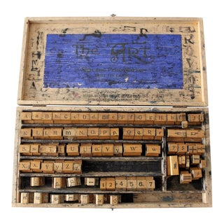 1920s Rubber Stamp Set From North-Western School Supply Co.