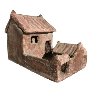 Han Dynasty Architectural Pottery Model of a House with Removable Roof