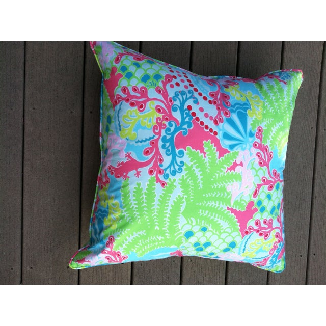 Lily Pulitzer Bright Throw Pillows - A Pair - Image 2 of 3