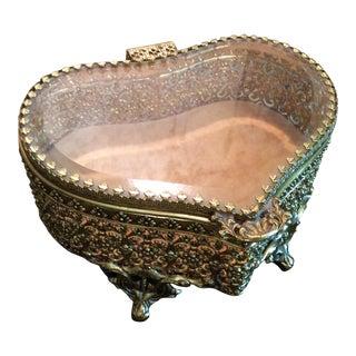 Vintage Gold Vanity Box