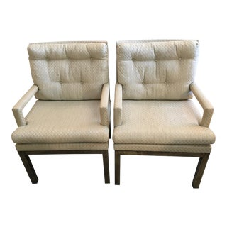 John Stuart Arm Chairs With Bronze Base