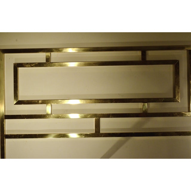 Hollywood Glam Greek Key Themed Brass King Headboard by Everett of California - Image 5 of 6