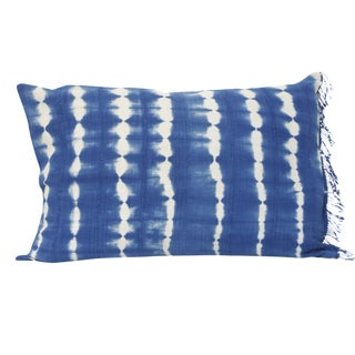 Royal Blue Dyed Striped Rectangular Pillow