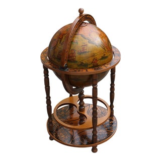 French Art Deco Style Globe Bar