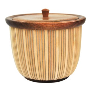 Darryl Arawjo Walnut & Monofilament Lidded Vessel