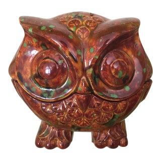 Vintage Owl Jewelry Box