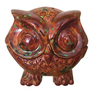 Vintage Owl Jewelry Box