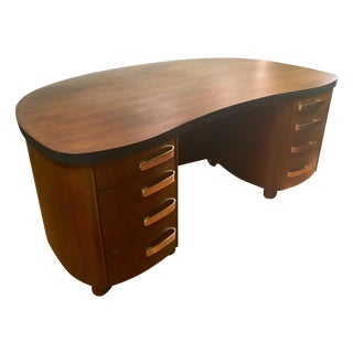 Stow & Davis Art Deco Curved Desk