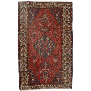 RugsinDallas Hand-Knotted Wool Persian Hamedan- 4′2″ × 6′7″