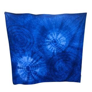 Hand-Dyed Indigo Shibori Rosette Curtain
