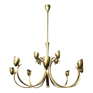 Stilnovo Twelve- Light brass Chandelier