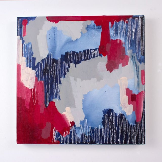 """Image of Linda Colletta """"Rouge Et Bleu I"""" Abstract Painting"""