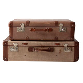 Vintage Luggage - Set of 2 Suitcases