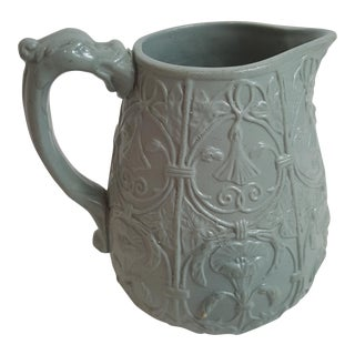 Blue Parian Ware Pitcher