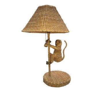 Mario Lopez Torres Rattan Monkey Lamp