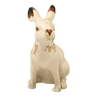 Earthenware Rabbit from Calvados Region of France