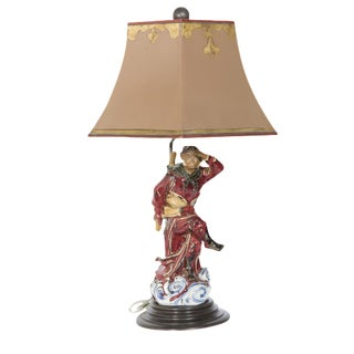 Vintage Figural Monkey Lamp