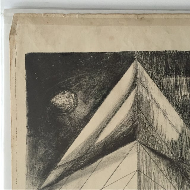 Richard Ayer Vintage Geometric Lithograph Print - Image 5 of 5