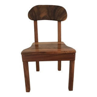 Hawaiian Monkey Pod Wood Chair