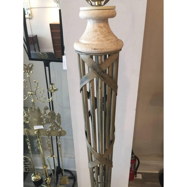 Neoclassical Bronze Floor Lamp - Image 2 of 3