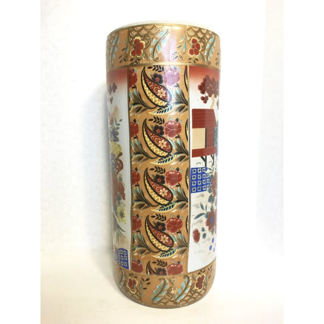 Image of Asian Inspired Umbrella Stand or Vase