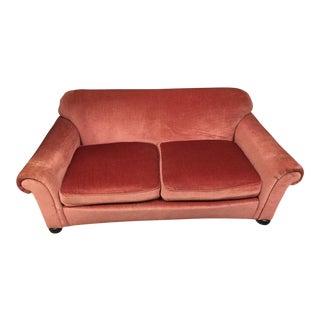 Mauve Upholstered Mohair Loveseat