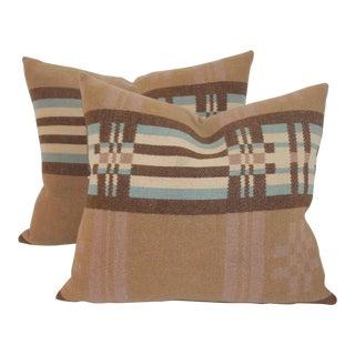 Striped Pendleton Pillows - A Pair