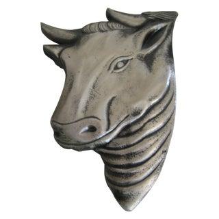 Silver Metal Bull Head