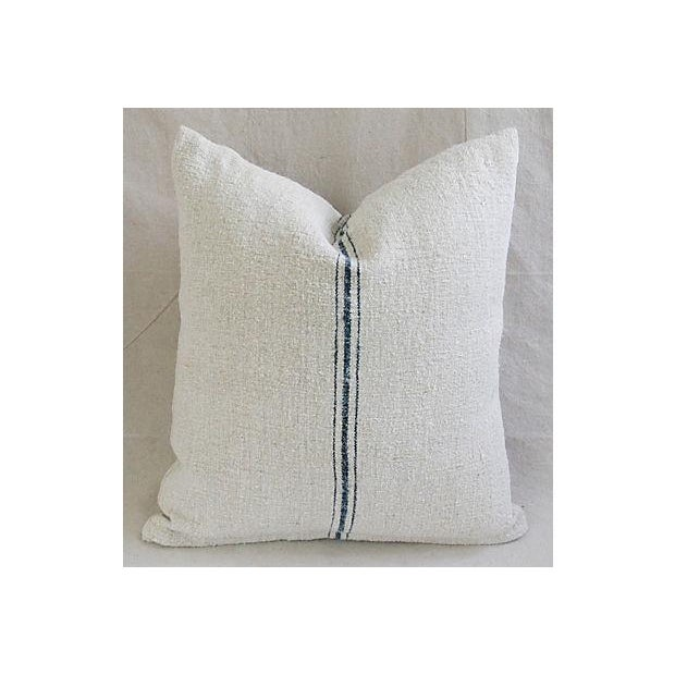 Image of Vintage French Grain-Sack Pillows - Pair