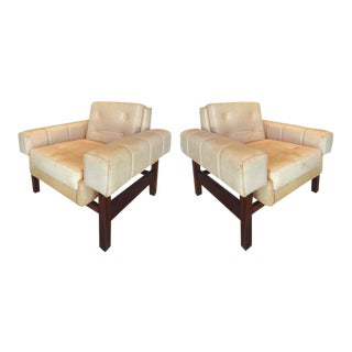 "1960s Sergio Rodrigues ""Navona"" Club Chairs in Jacaranda and Leather, Pair"