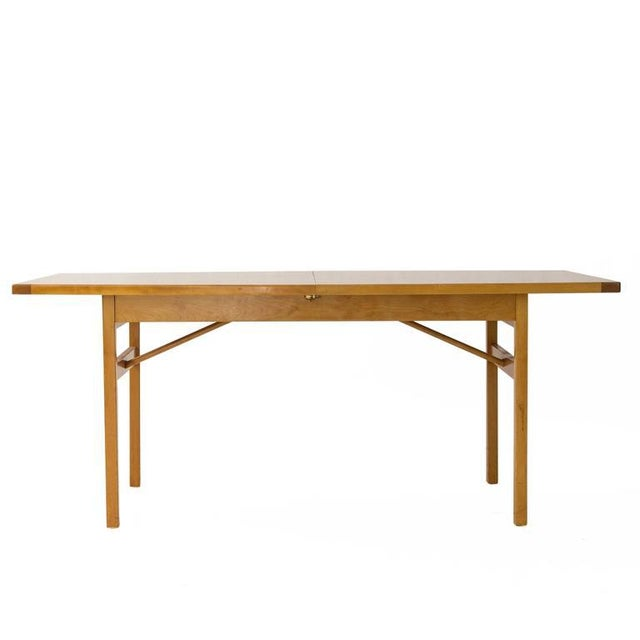 Jens Risom Dining Table with Leaves - Image 3 of 6