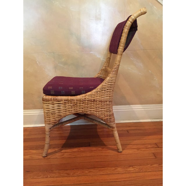Vintage McGuire Caned Side Chair - Image 4 of 8