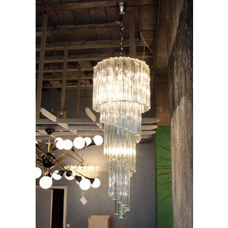 Murano Glass Spiral Chandelier by Venini