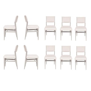 Set of 10 Maze Lacquered Dining Chairs