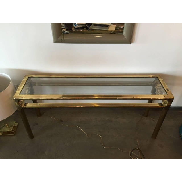 Mastercraft Brass and Glass Console - Image 4 of 6