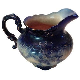 Antique Blue & White Porcelain Pitcher