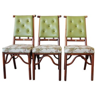 Tropical Bamboo Dining Chairs - Set of 3