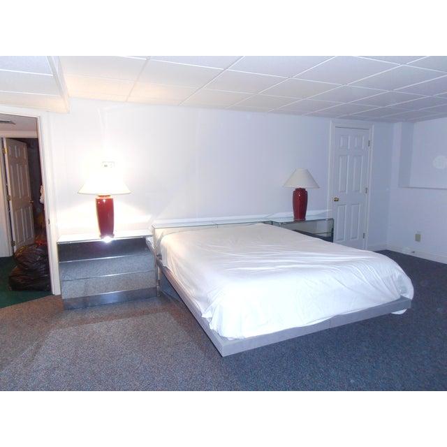 Hollywood Regency Style Platform Bedroom Set Chairish