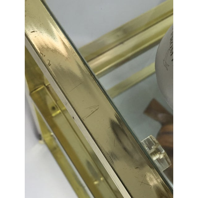 Vintage Brass & Glass End Cart Table - Image 11 of 11