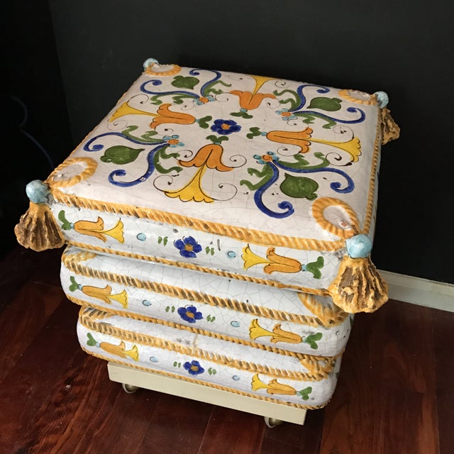 Image of Ceramic Stacked Pillow Ottoman